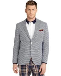Brooks brothers milano fit mini check seersucker sport coat medium 246829