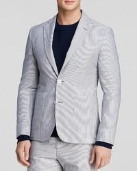 Hardy Amies Seersucker Half Lined Sport Coat Regular Fit
