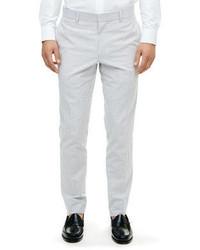 Grey Seersucker Dress Pants
