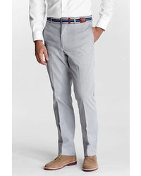 Lands' End Regular Plain Front Tailored Fit Pincord Trousers