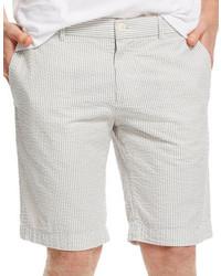 Grey Seersucker Shorts
