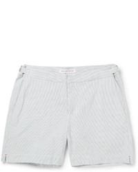 Orlebar Brown Cavrin Slim Fit Seersucker Cotton Shorts