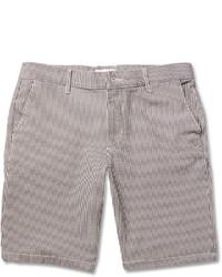 Nn07 Seersucker Cotton Blend Shorts