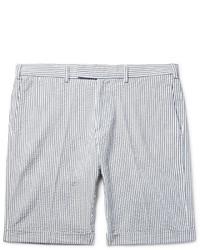 Gant Rugger Slim Fit Striped Cotton Seersucker Shorts