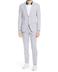 BOSS Helfordgander 3 Slim Fit Stripe Seersucker Suit