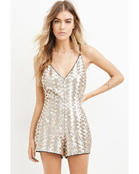 Sequined cami romper medium 378077