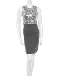 RED Valentino Sequin Embellished Wool Dress