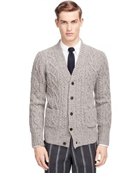 Brooks Brothers Shawl Collar Cable Cardigan