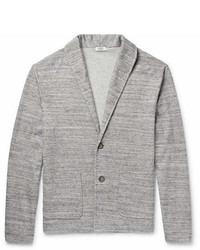 Eidos Shawl Collar Mlange Cotton Blend Cardigan