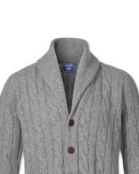 Charles Tyrwhitt Grey Shawl Collar Cardigan