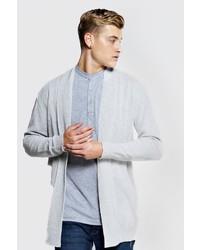 Boohoo Longline Textured Cardigan