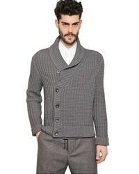 Maison Martin Margiela Cotton Wool Fancy Knit Cardigan