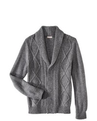 Merry Link Co., Ltd. Merona Shawl Collar Cardigan Heather Gray Xxl