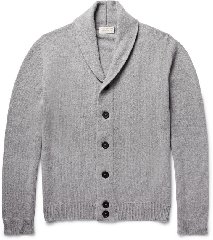 John Smedley Patterson Shawl Collar Merino Wool And Cashmere Blend ...