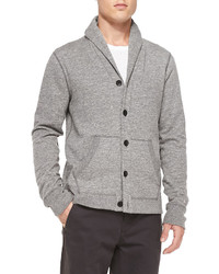 Rag bone shawl collar cardigan w elbow patches gray medium 143625