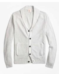Brooks Brothers Seed Stitch Cotton Shawl Collar Cardigan