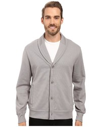 Perry Ellis Shawl Button Front Mix Media Cardigan