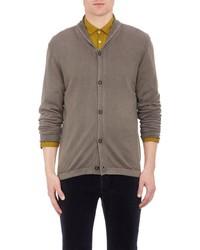 Massimo Alba Shawl Collar Cardigan Grey Size Extra Large