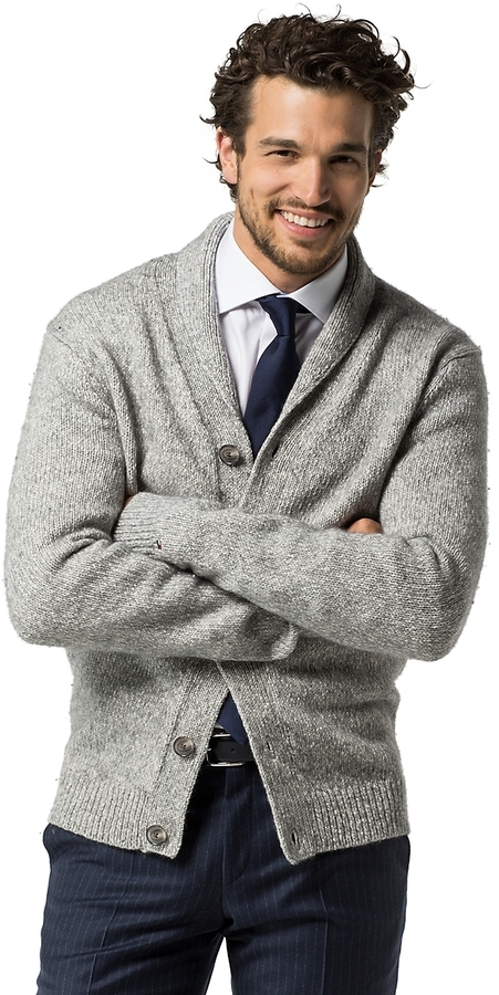 Tommy Hilfiger Shawl Collar Cardigan | Where to buy & how to wear