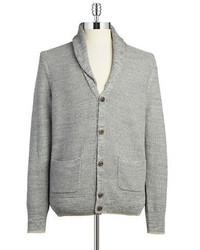 0ef9f104319 ... Black Brown 1826 Shawl Collar Cardigan Sweater
