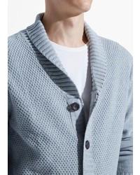 Mango Shawl Collar Textured Cardigan