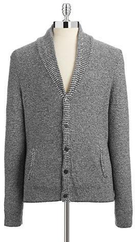 d6493241992 ... Black Brown 1826 Shawl Knit Cardigan Sweater