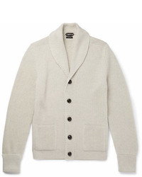 Tom Ford Steve Mcqueen Shawl Collar Ribbed Wool Cardigan