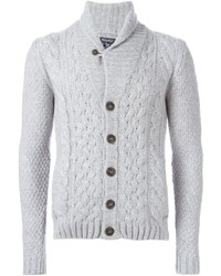 Woolrich Cable Knit Buttoned Cardigan