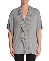 Josie Natori Twist Front Cashmere Sweater