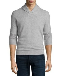 Theory Lauben Cashmere Long Sleeve Sweater Light Gray