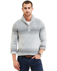 Nautica Ombr Shawl Collar Sweater