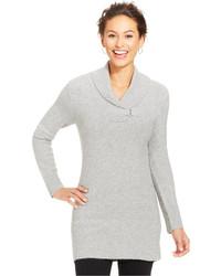 Style&co. Petite Shawl Collar Buckle Sweater Tunic