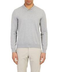 Piattelli Shawl Collar Sweater Grey Size M