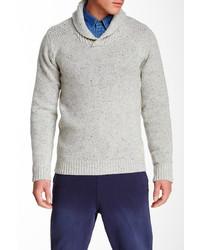 Scotch & Soda Shawl Collar Rib Knit Wool Blend Sweater
