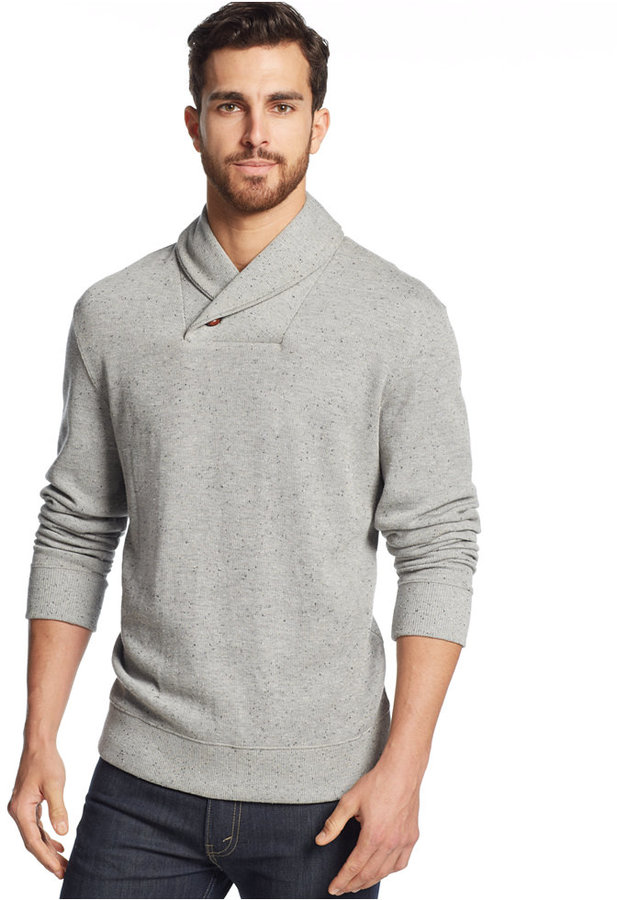 Tasso Elba Shawl Collar Sweater | Where to buy & how to wear