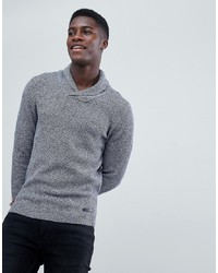 Esprit Shawl Neck Knitted Jumper In Twisted Yarn