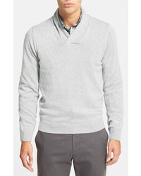 Nordstrom Shop Cotton Cashmere Shawl Collar Sweater
