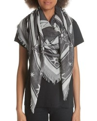 Givenchy Iconic Flash Jacquard Silk Wool Shawl