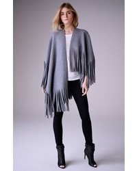 Burberry London Felted Wool Cashmere Blend Poncho Wrap