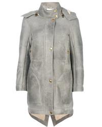 Grey Shearling Coats for Women | Women's Fashion