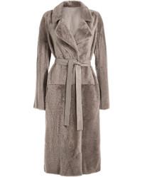 Reversible lambskin coat medium 824577