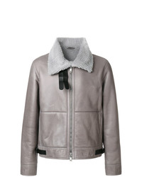Jil Sander Fur Lined Leather Coat