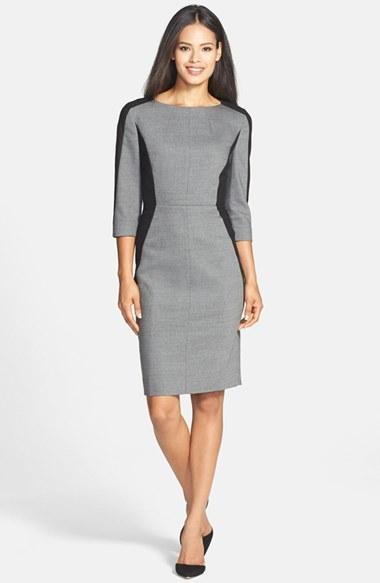 c5dd060c Classiques Entier Bateau Neck Colorblock Sheath Dress, $278 | Nordstrom |  Lookastic.com