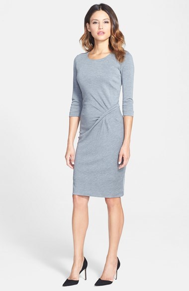 087b63e40ccb Hugo Boss Boss Boss Twist Front Knit Dress, $425 | Nordstrom | Lookastic.com