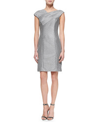 Kay Unger New York Cap Sleeve Textured Sheath Dress
