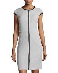 Contrast trim sheath dress medium 3726345