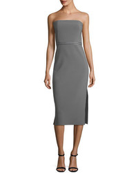 Sierra strapless fitted sheath crepe dress medium 4985996