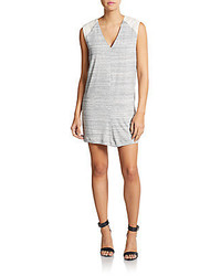 Autograph Addison Striped Eyelet Detailed Shift Dress
