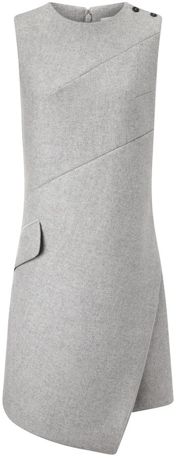 22a2c7d3f8 Carven Grey Wool Sleeveless Shift Dress, $700 | Avenue32 | Lookastic.com
