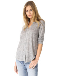 Linen shifted pullover medium 5312035